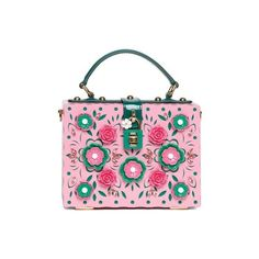 Dolce and Gabbana 'Dolce Box' Bag With Embellishment (€2.780) ❤ liked on Polyvore featuring bags, handbags, clutches, purses, pink, dolce gabbana purses, embellished bags, man bag, embellished purse and pink handbags