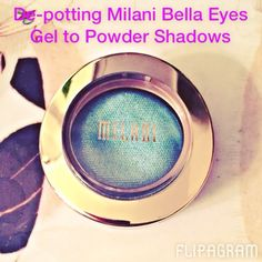 De-potting @milanicosmetics #bellaeyes shadows is super quick and easy! Happy de-potting! #zpalette #depottingdiaries #milani #flipagram made with @flipagram