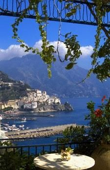 Amalfi Coast, Italy. Now that's a view. Our reception is being held on the Amalfi Terrace and the Amalfi ballroom, inspired from Amalfi Coast.