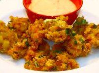 Spicy Crawfish Beignets with Remoulade Sauce - Super Bowl Party Buffet