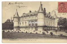 1907. Chateau à Rambouillette, France. Castle. Beautiful vintage postcard of Europa. Original, not print. Contact me for price. Différentes cartes postales en provenance de l'Europe et autres pays sur ce continent. Elles sont originales d'époque. Pas de réplique. Contactez nous pour le prix.
