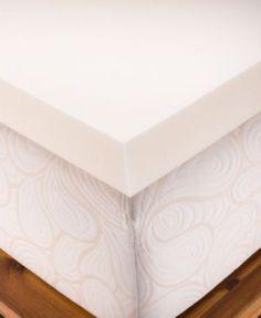 Closeout! Authentic Comfort Biofresh 4″ Memory Foam California King Mattress Topper – Tan/Beige
