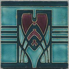 Description: Tiles were made using a ceramic paste which was ap . Description: Tiles were made using a ceramic paste which was applied to a mold and Azulejos Art Nouveau, Motifs Art Nouveau, Design Art Nouveau, Motif Art Deco, Art Nouveau Pattern, Arte Art Deco, Estilo Art Deco, Jugendstil Design, Art Nouveau Tiles