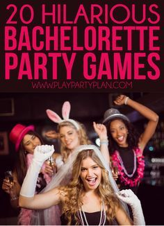 20 funny and unique bachelorette party games that work whether you're headed to a hotel or staying at home! Everything from a man scavenger hunt to tons of printable girls night games, there are hilarious ideas for every type of party! Love that this incl Bachlorette Party, Bachelorette Party Themes, Bachelorette Weekend, Girls Night Games, Bra Pong, Bridal Shower Games, Bridal Games, Funny Games, Party Games
