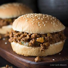 Use the fathead dough recipe to make sturdy low carb hamburger buns and keto rolls for sandwiches. This easy recipe results great low carb bread products. Healthy Sloppy Joe Recipe, Sloppy Joe Recipe Crock Pot, Healthy Sloppy Joes, Homemade Sloppy Joe Recipe, Homemade Sloppy Joes, Sloppy Joes Recipe, Tater Tots, Sloppy Joe Recipe With Brown Sugar, Onion Recipes