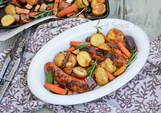 Sausage, Apple, And Herb Sheet Pan Supper