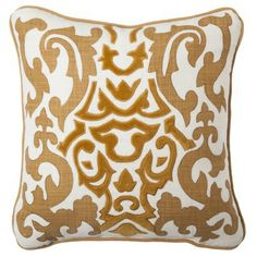 Love this velvet embroidered toss pillow