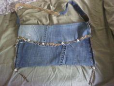 Shabby chic Jeanstasche. Entworfen und mit viel Liebe gefertigt! 45,00€