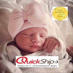 Newborn hospital hat: newborn girl/bay girl or newborn. You will have the ONLY newborn hat GUARANTEED to fit & stay snug to all newborns. These