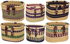 Asungtaba Bike Baskets-made by artisans in a developing country as a sustainable product. By Houseof Bicycle Basket, Bike Baskets, Cycle Chic, Bicycle Accessories, Tricycle, Bags, Bike Ideas, Cycling Gear, West Africa