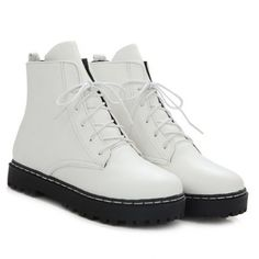 GET $50 NOW | Join RoseGal: Get YOUR $50 NOW!http://www.rosegal.com/boots/flat-heel-pu-leather-combat-671572.html?seid=6482740rg671572