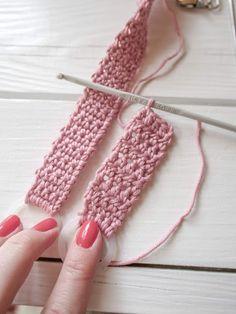 virkattututtinauhaohje Fingerless Gloves, Arm Warmers, Crochet, Fingerless Mitts, Cuffs, Fingerless Mittens, Chrochet, Crocheting, Knits