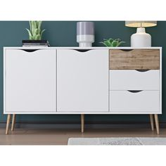 "Langley Street Pajaro 5 Drawer Sideboard 57"" $309"