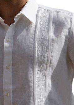 Short Sleeve. No pockets. Wedding Guayabera Shirt. Linen. Indian Men Fashion, Mens Fashion, Guayabera Wedding, Chemise Fashion, Guayabera Shirt, Mens Designer Shirts, Wedding Shirts, Pant Shirt, Men Design