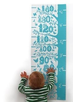 Height growth chart hand pulled screen print onto by boldandnoble, $69.00