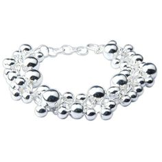 Fashion Jewelry Sterling Silver Link Bracelet from India 9 Inches: Jewelry: Amazon.com