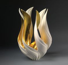 Porcelain Vase by Jennifer McCurdy Ceramic Pottery, Pottery Art, Slab Pottery, Pottery Studio, Ceramic Bowls, Thrown Pottery, Porcelain Vase, Fine Porcelain, Ceramic Artists