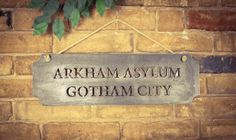 Batman Arkham Asylum Gotham City Sign