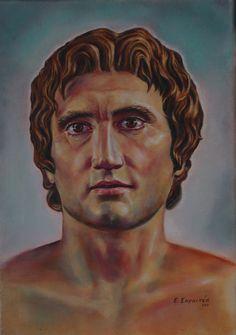«ΤΟ ΕΝΤΟΣ ΑΓΑΛΜΑ»:Έκθεση πορτρέτων αρχαίων Ελλήνων της Εύης Σαραντέα Akg, Portrait, Image Search, Alexander The Great, Painted Canvas, Exploring, Heroes, Legends, Kunst