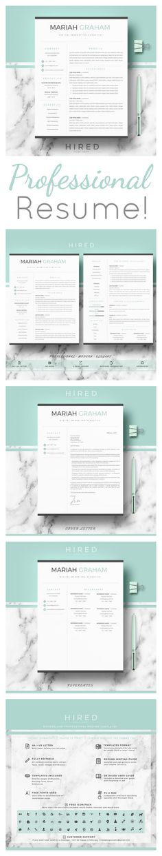 Love how stylish and professional this Resume is! Sure to impress - references for resume