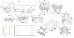Sheet-metal dump truck model - Assembly drawing
