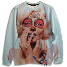 Marilyn Monroe Sugar Skull Sweatshirt