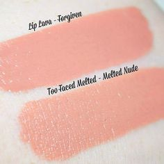 """Too Faced Melted Lipstick in """"Peony"""" vs. Makeup Revolution Lip Lava in """"Tremor."""" http://pinsta.me/theglamourindex"""