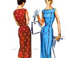 3684 cartamodello di McCall per guaina dei Vintage 50s Misses Abito - Uncut - taglia 14 - busto 32
