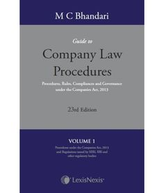 M C Bhandari?s Guide to Company Law Procedures, 23/e (Set of 4 Volumes)