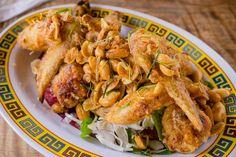 Laotian fried chicken with money sauce kaffir lime roast peanut fried shallots at @piggysmallshawaii. This is one of our all time favorites. - @pigandthelady @jabalovespho @alexle @orangeelement @justinnoig @goginogo808 @fishsauceborderlaise @wardvillage #piggysmalls #hawaiisbestkitchens #thepigandthelady #food #imenehunes #friedchicken