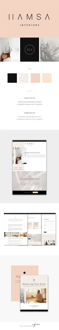 Brand Identity and Website Design for Hamsa Interiors // Clean, minimalist design // Interior Design Branding // Web Design