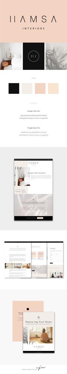 Brand Identity and Website Design for Hamsa Interiors // Clean, minimalist design // Interior Design Branding // Web Design