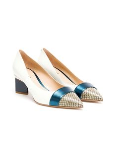 Shop Nicholas Kirkwood- Watersnake and Leather Pumps at Farfetch
