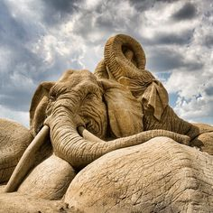 Sculture di sabbia impressionante