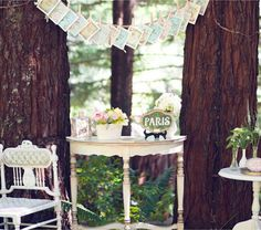 Sweet inspiration for Mother's Day - use photos clipped with clothespins on ribbon