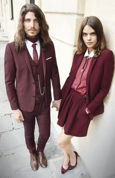 I like when your look has multiple shades of one color.  It looks really cool if done right.  #streetstyle  #oxblood #maroon #plum