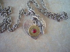 Bullet Jewelry  Heartbreaker by islandgirlzjewelry on Etsy, $29.95