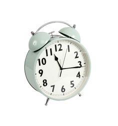 Reloj despertador gigante campanas agua marina