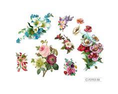 Temporal temporal Floral de flor tatuajes tatuaje por pepperink