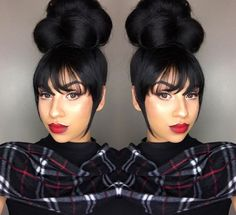 Bangs Hairstyles Sew In,braided hairstyles bun ideas.Natural Bun Hairstyles,wedding hairstyles suelto,pony tail hairstyles and black women hairstyles fall ideas. Holiday Hairstyles, Hairstyles With Bangs, Pretty Hairstyles, Braided Hairstyles, Wedding Hairstyles, Black Hairstyles, Woman Hairstyles, Wave Hairstyles, Updos Hairstyle