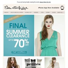 Miss Selfridge - Final Summer Clearance up to 70% off