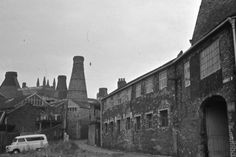 View all the latest pictures in the gallery, Unseen images of Longton: Bert Bentley Collection, on Stoke Sentinel. View from Normacot Road, Spencer Stevenson Pottery. Bottle ovens. Short Street in foreground. St James' Church....