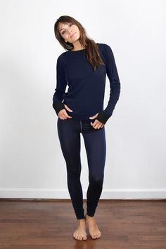 Lunya Pima Long Sleeve Crew