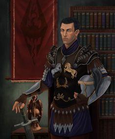 m Ranger Noble Medium Armor Helm Longsword male Castle urban City med The Elder Scrolls, Elder Scrolls Races, Elder Scrolls Skyrim, Imperial Legion, Tes Skyrim, Medium Armor, Traditional Witchcraft, Saga, Fantasy Portraits
