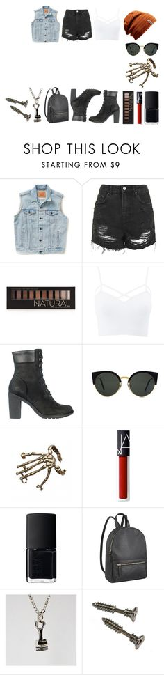 """Jesse"" by georgialee13 ❤ liked on Polyvore featuring Levi's, Topshop, Forever 21, Charlotte Russe, Timberland, RetroSuperFuture, Bernard Delettrez and NARS Cosmetics"