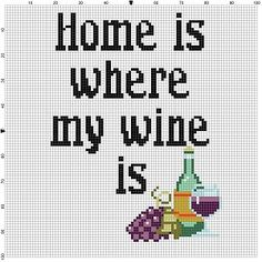 Ah yes, wine. You cant have a home without it. Would look great in a bar or a kitchen or as a gift for a friend or anything really. Modern cross stitch pattern is designed on 14 count Aida. It will run about 7x7 and will look awesome in an 8x10 frame with a matte.. This pattern will come with 2 different sized full colour patterns, for printing or viewing convenience, and a handy little tips and tricks printout to help you in your quest for cross stitching awesomeness. THIS IS NOT A…