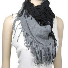 Infinity Knit and Tassel Scarf Two Tone Black Grey ECHO,http://www.amazon.com/dp/B00A36Q57S/ref=cm_sw_r_pi_dp_CAowrb0M3N8MK3HF