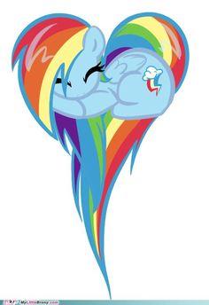 Rainbow Dash love