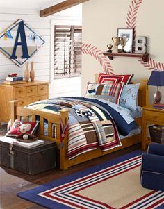 Discover boys room ideas and inspiration at Pottery Barn Kids. Shop our favorite boys bedrooms for furniture, bedding, and more. Big Boy Bedrooms, Kids Bedroom, Bedroom Decor, Bedroom Ideas, Bedroom Designs, Bedroom Wall, Pottery Barn Bedrooms, Pottery Barn Kids, Baby Boys