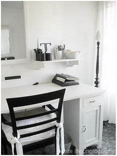 Black and White Office Space Design